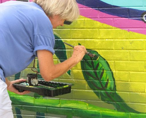 neighborhood revitalization mural painting project