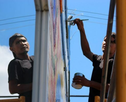 neighborhood revitalization mural project