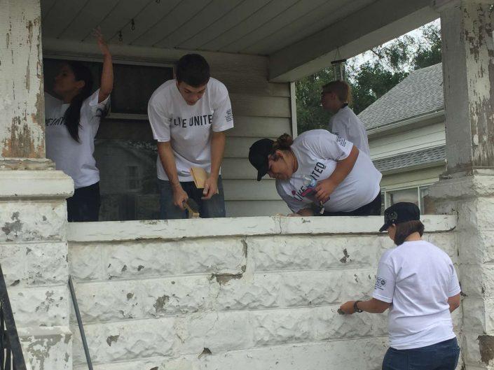 Rock the Block volunteers